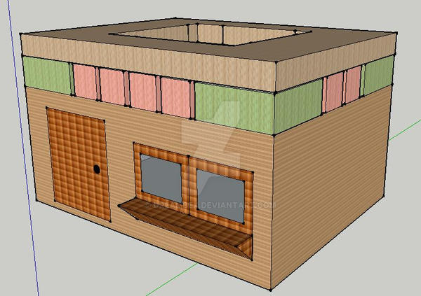 Beach Hut 3D Model by DreamBex