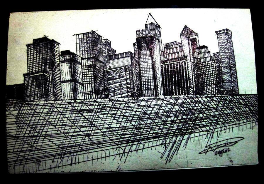 New York City Skyline by Guppy0031
