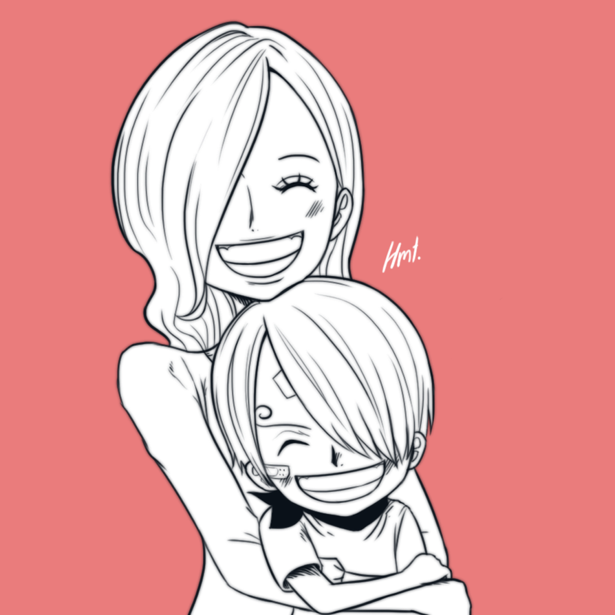 Sanji and his mom by hermestar