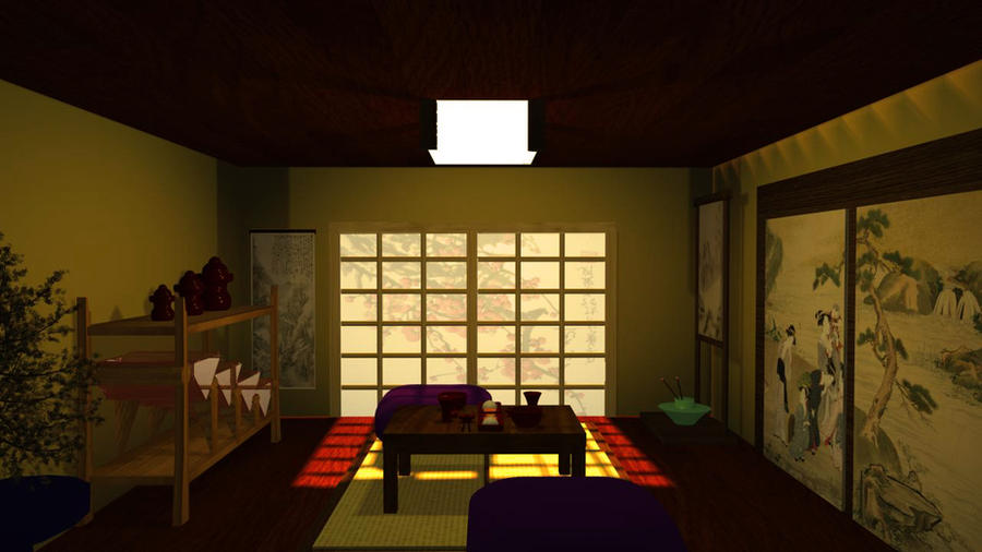 Edited: Japanese Dining Room by ChrisTori on DeviantArt