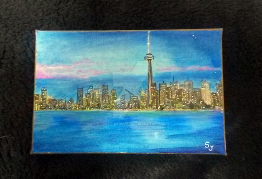 Toronto Skyline by Underworld666Chaos