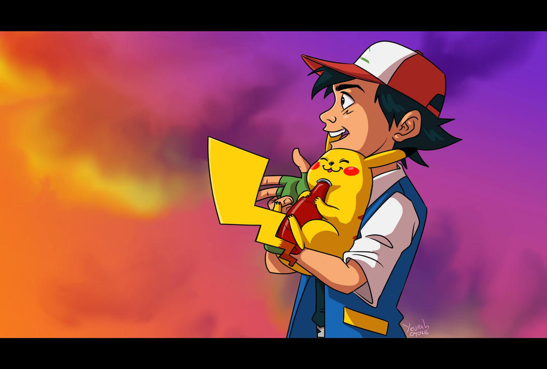 Ash and Pikachu by Konstance