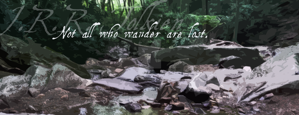 All Who Wander Facebook Banner by synonymtograce