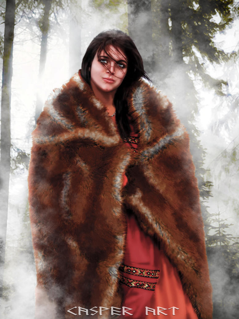Viking woman Carrie Lynn by thecasperart on DeviantArt Viking Woman Art
