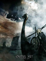Viking on a Drakkar by thecasperart
