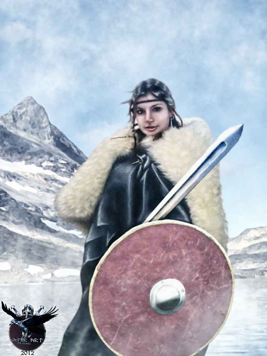 Viking woman Julia Drakka by thecasperart on DeviantArt Viking Woman Art