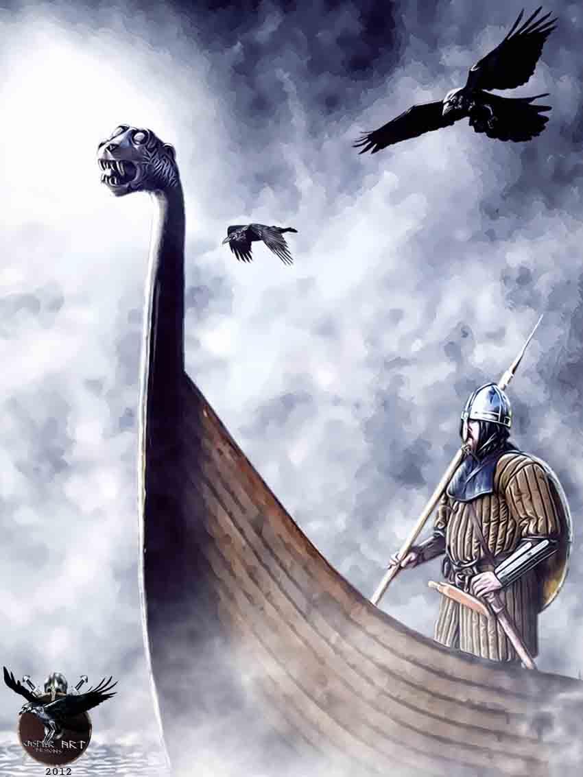 Rumeurs du Norfendre : - Page 2 Vikingon_a_drakkar_by_thecasperart-d56q28u