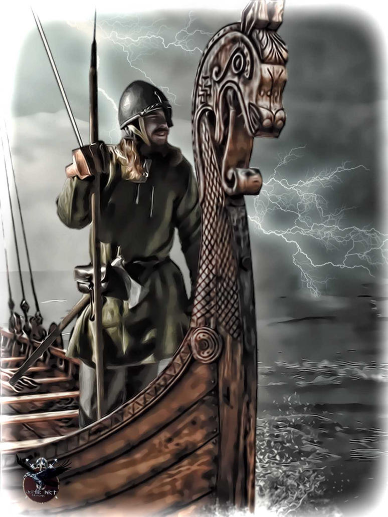 Viking sailing into unknown by thecasperart on DeviantArt