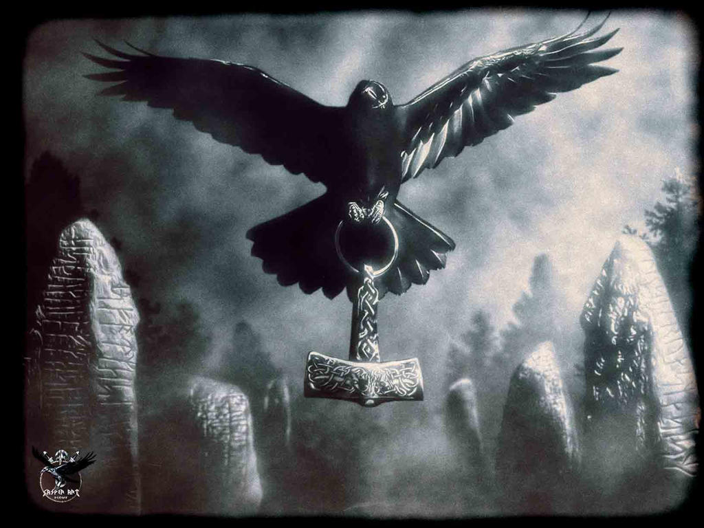 Ravens flying wallpaper - photo#3