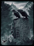 Huginn and Muninn on a runestone