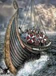 Vikings on a Longship