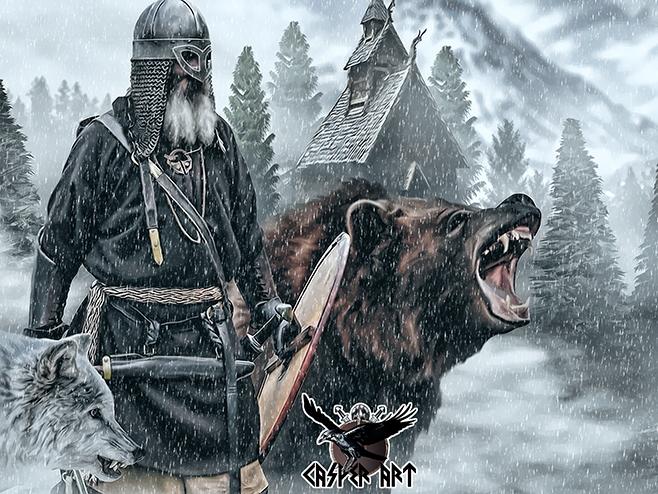 viking by thecasperart on deviantart