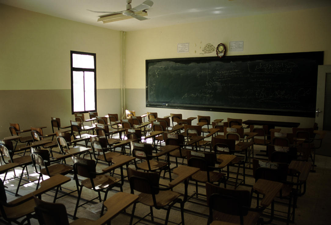 Modern Classroom Game ~ Empty classroom during curfew by phillip hodges on deviantart