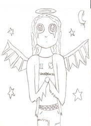 Angel Dead - Line Art by V-Starr