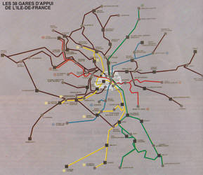 SNCF Ile de France And RER RATP 1988 map by Nagato-Yuki-chan