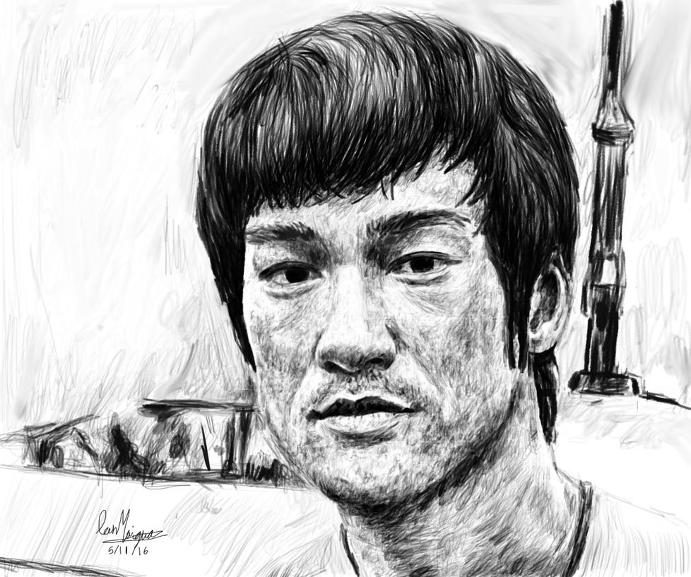 Bruce lee Pencil Portrait by IanMaiguaPictures
