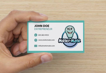 Metermate Mockup Business Card Design by IanMaiguaPictures