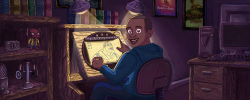 Animation Workstation Digital Painting by IanMaiguaPictures