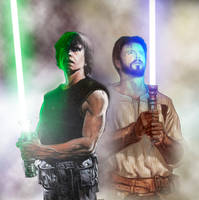 Luke Skywalker and Kyle Katarn by oliatoth