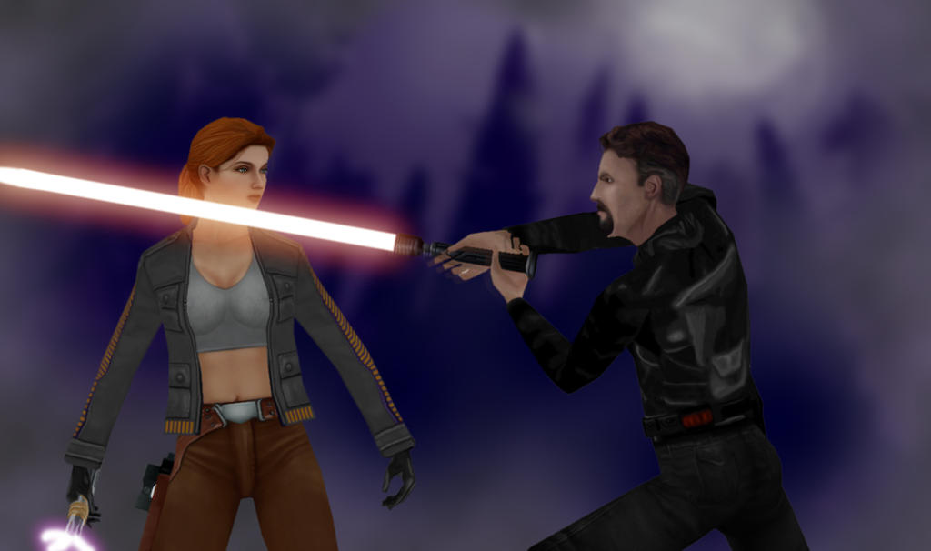 Mara Jade Vs Kyle Katarn By Oliatoth On Deviantart