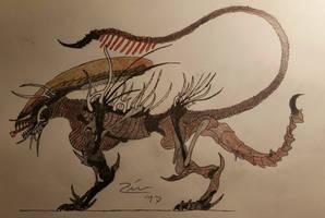 predogalien hellhound hatched xenomorph  by TheDubstepAddict