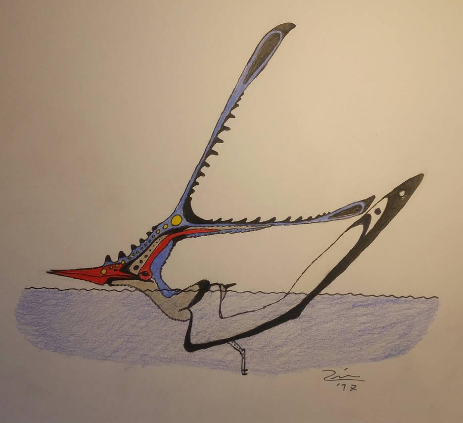 Nyctosaurus gracilis doing a float