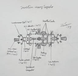 Javelin heavy space torpedo sketch
