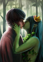 Kiss of the Dryad by JustaBlink