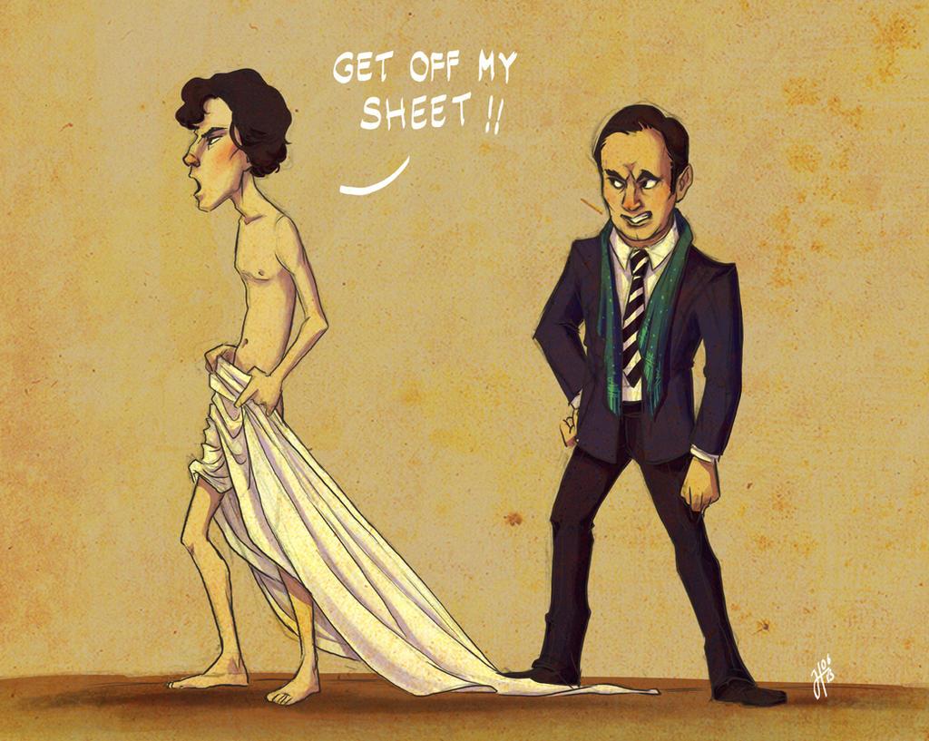 Get off my sheet!! by JustaBlink