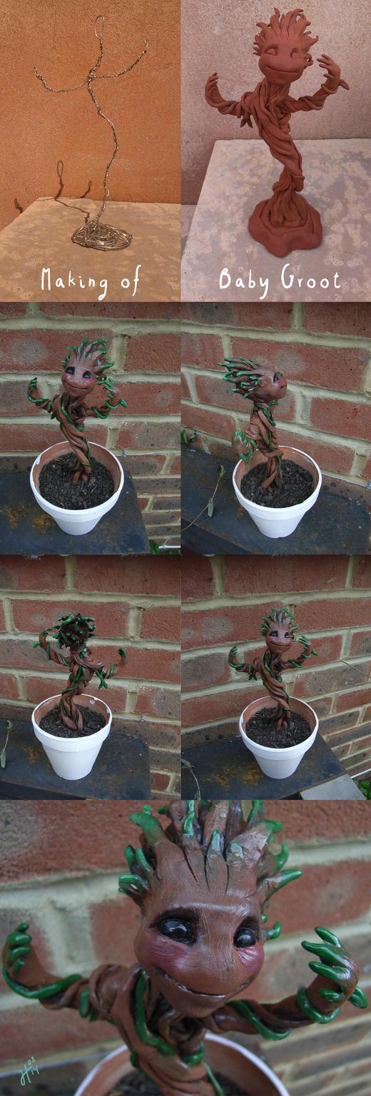 Building Baby Groot by JustaBlink