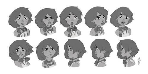 Raki expressions by JustaBlink
