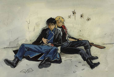 After the battle - fma, royai by astridv