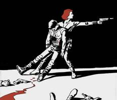 Avengers fanart- Black Widow + Hawkeye by astridv