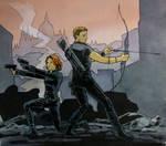 more Black Widow and Hawkeye fanart