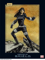 Agents of SHIELD trading cards: Skye by astridv