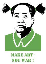 make art not war by muraviedo