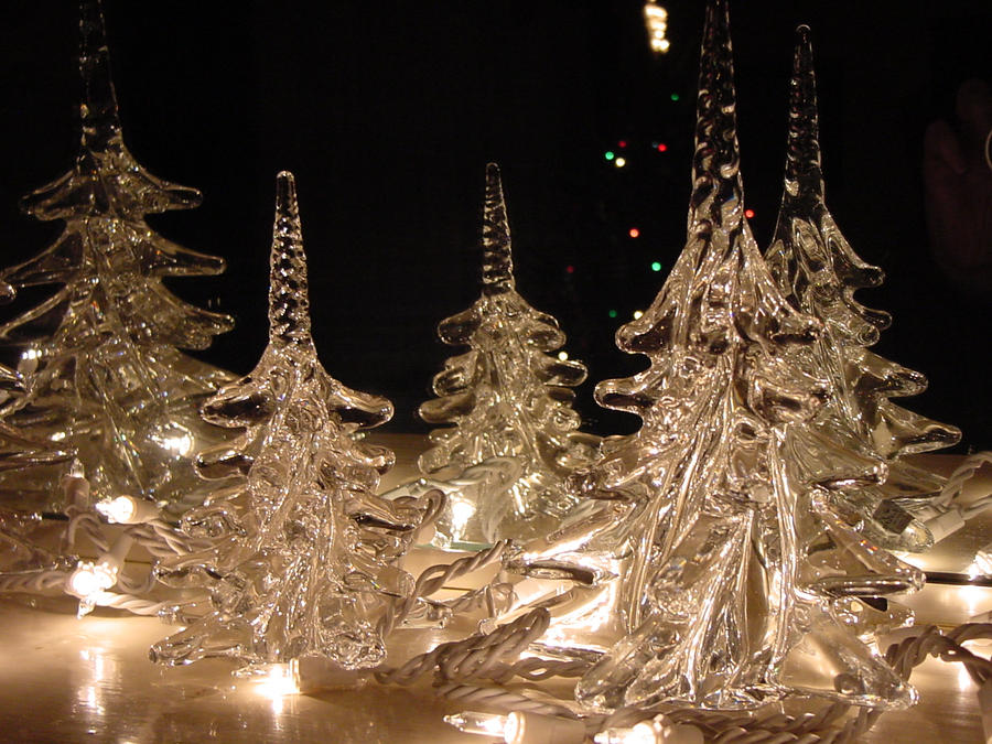 crystal christmas trees by ox3art