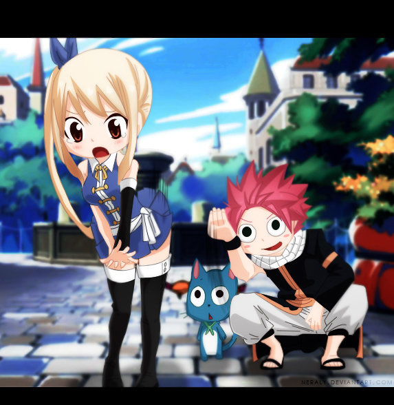 Lucy and natsu fairy tail by neraly on deviantart - Fairy tail lucy et natsu ...