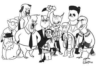 12 Angry Animals by edorta