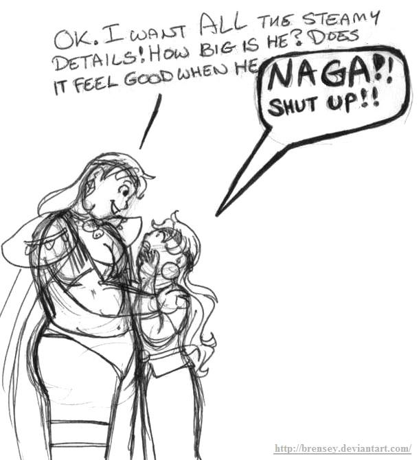 Lina and Naga's girl talk by brensey
