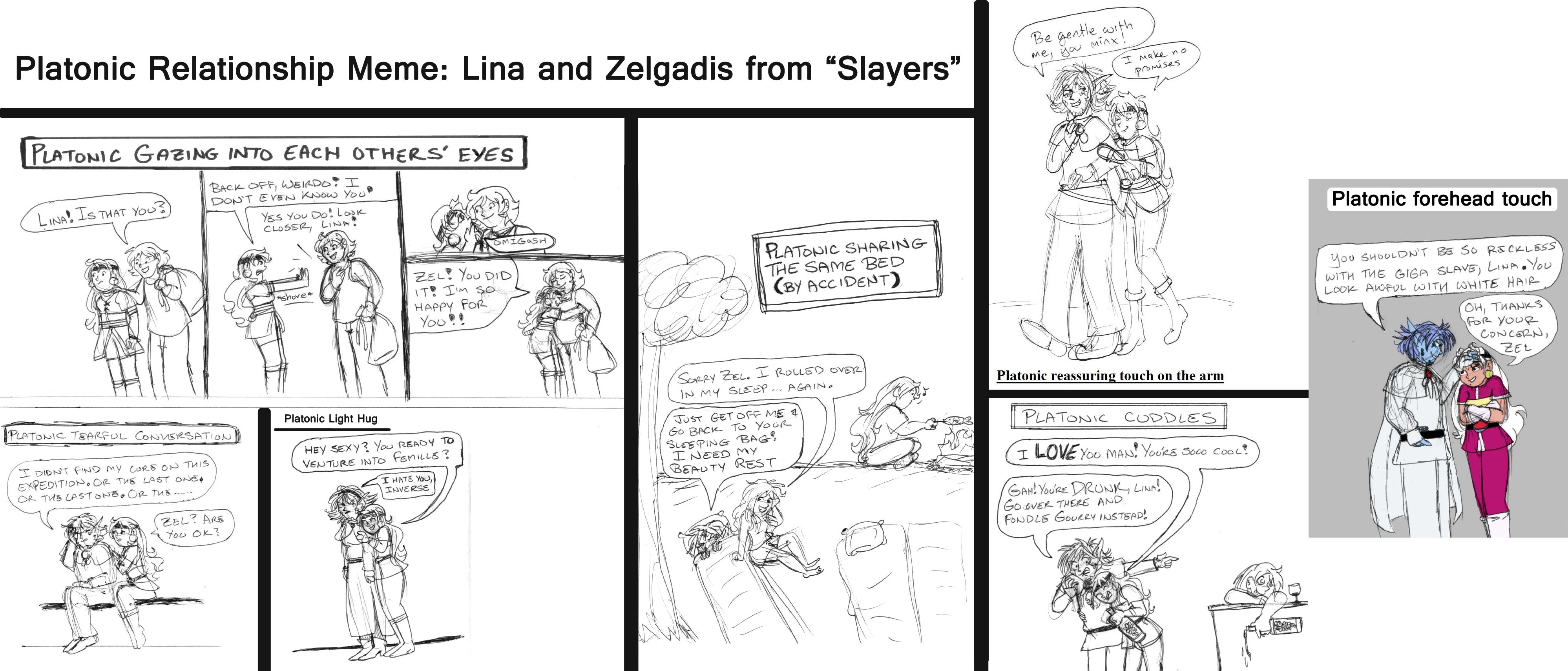 Platonic Relationship Meme: Lina and Zelgadis by brensey