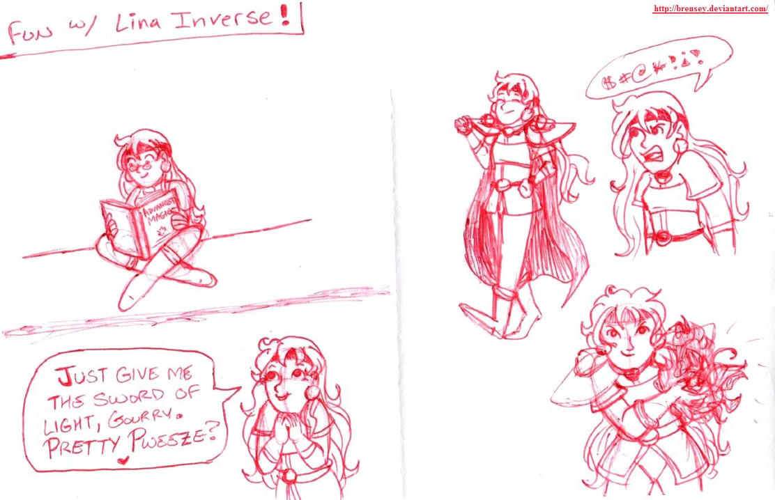 Fun with Lina Inverse by brensey