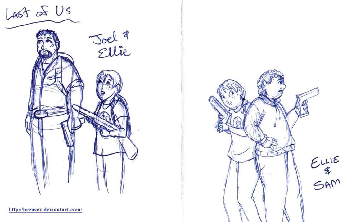 Last of Us: Ellie and Friends by brensey