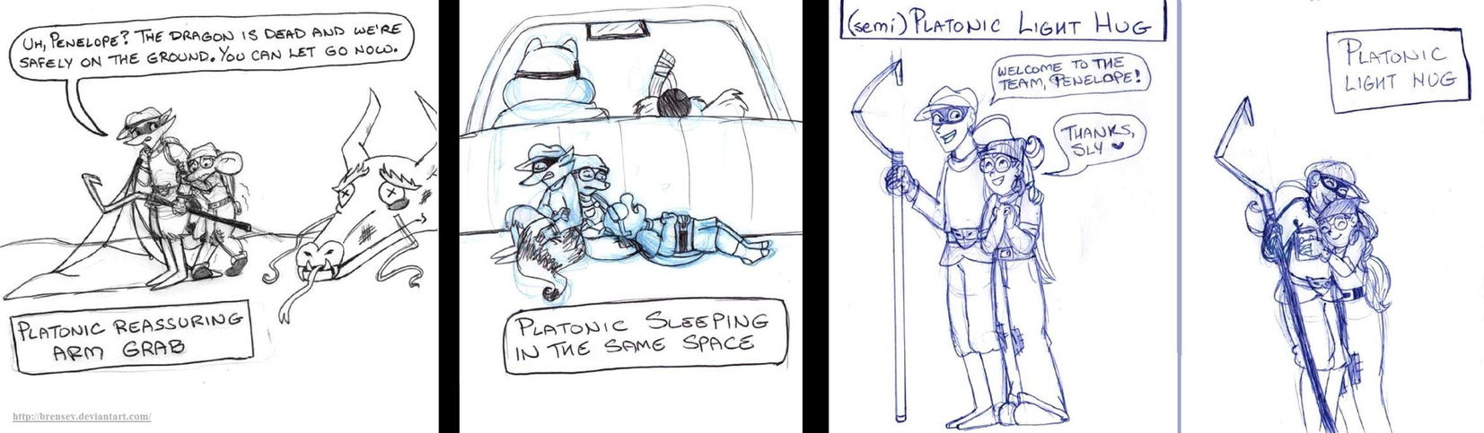 Platonic Love Meme: Sly and Penelope (p.1) by brensey