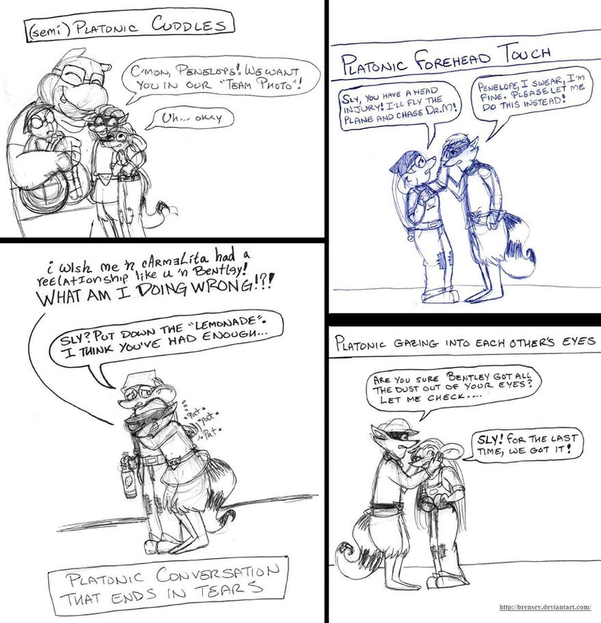 Platonic Love Meme: Sly and Penelope (p.2) by brensey
