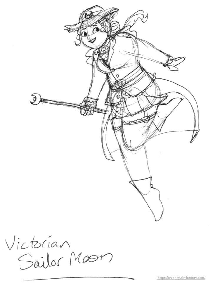 Victorian Sailor Moon by brensey