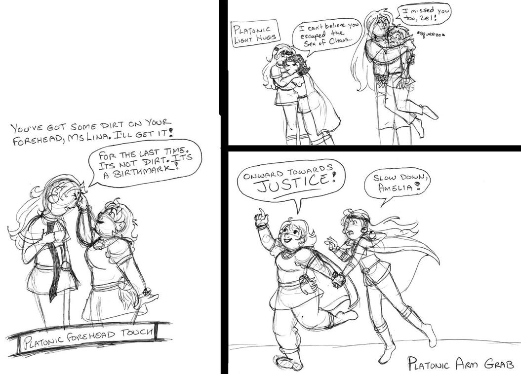 Platonic Love Meme: Lina and Amelia (part 2) by brensey