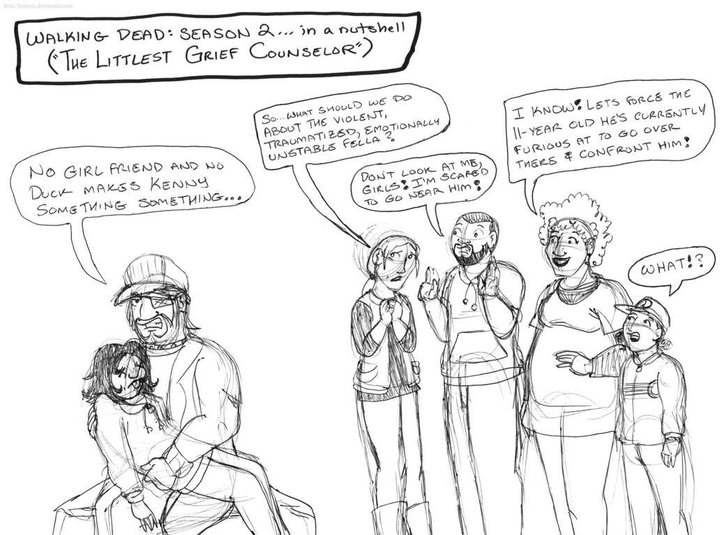 Walking Dead Season 2 in a nutshell (Grief) by brensey