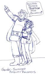 Gender Swap (Amelia and Zelgadis) by brensey