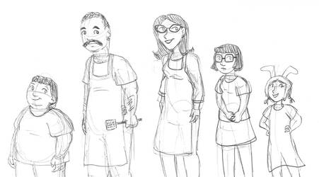 Bob's Burgers family by brensey